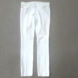 Tory Burch super skinny white jeans